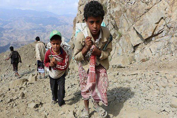 تصویر هشدار یونیسف در باره نیازمندی همه کودکان یمن