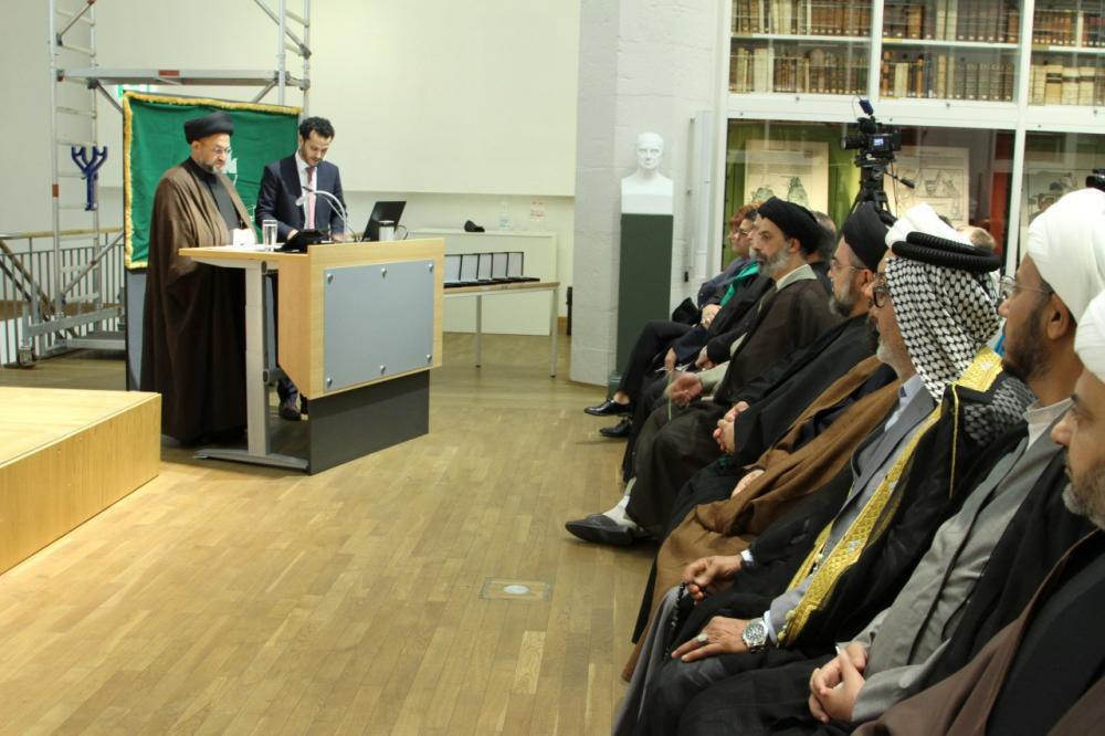 تصویر آغاز نخستین «هفته فرهنگی حضرت ابوالفضل علیه السلام» در آلمان