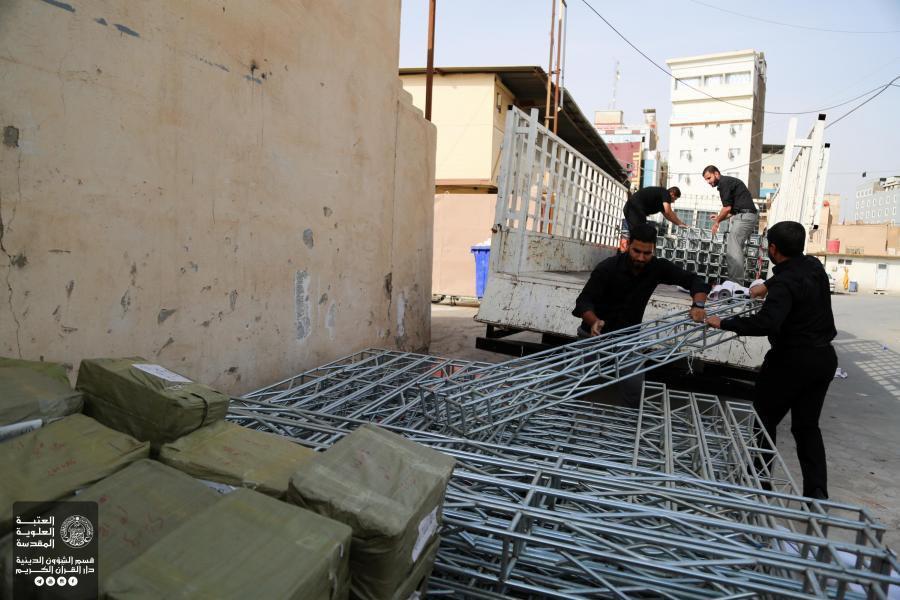 تصویر راهاندازی استراحتگاههای قرآنی برای زائران اربعین در بصره