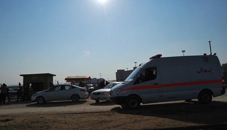 تصویر واژگونی خودروی زائران ایرانی در جنوب عراق
