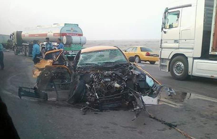 تصویر سانحه رانندگی در شرق عراق/ ۱۱ زائر کشته و زخمی