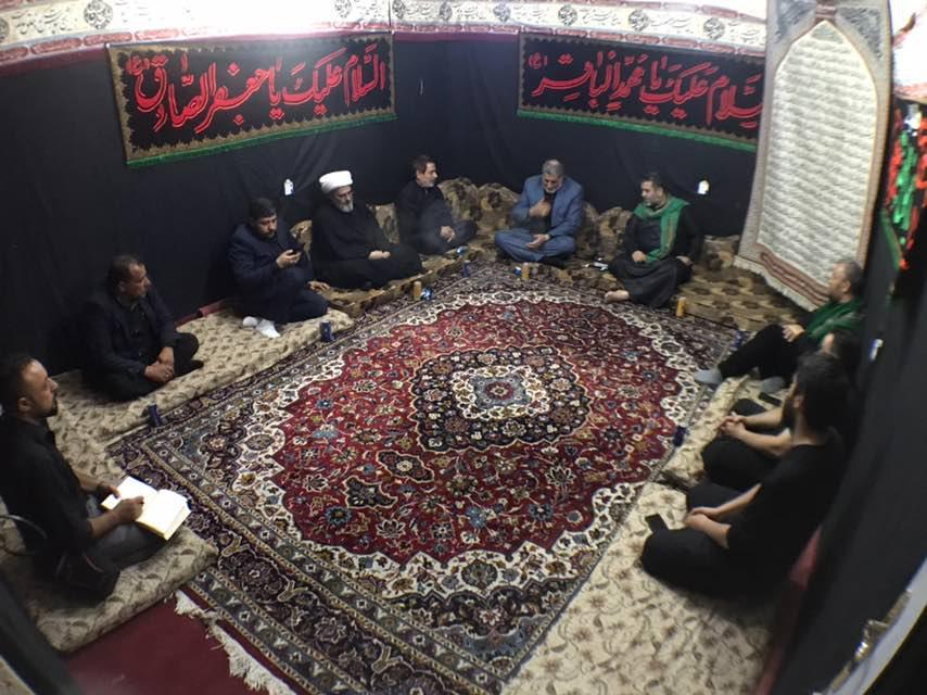 تصویر حضور مدیر مرکز روابط عمومی دفتر مرجعیت در مقر مجموعه رسانهای امام حسین علیه السلام