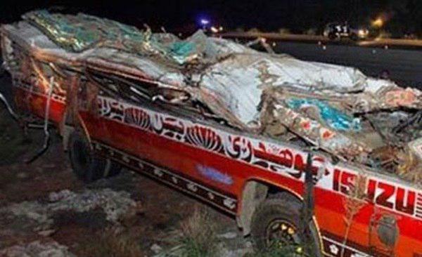 تصویر جان باختن 15 زائر پاکستانی
