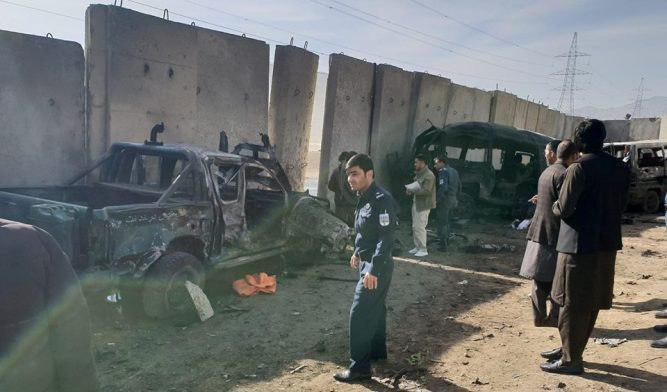 تصویر ۱۷ کشته و زخمی در حمله انتحاری در شهر «میدان وردک» افغانستان