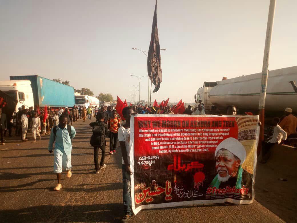 تصویر حمله نظامیان نیجریه به عزاداران اربعین حسینی