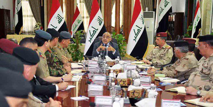تصویر امنیت عراق؛ موضوع نشست نخست وزیر عراق با فرماندهان امنیتی
