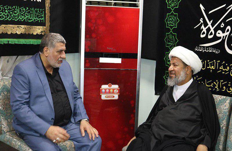تصویر حضور نماینده مرجع عالیقدر در بحرین در مرکز روابط عمومی دفتر مرجعیت در کربلای معلی
