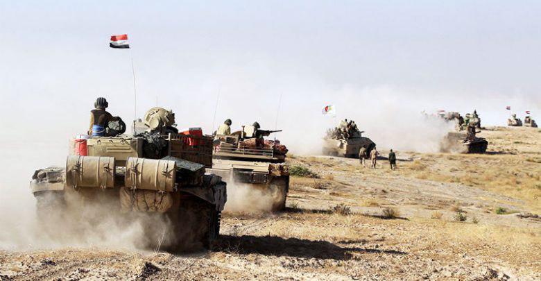 تصویر تقویت نیروهای حشد الشعبی عراق در مرز سوریه