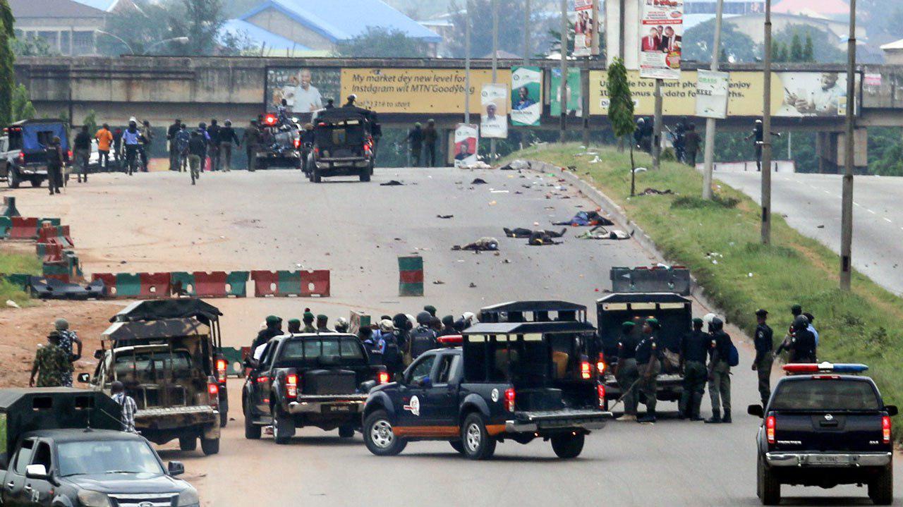 تصویر تیراندازی ارتش نیجریه به شیعیان؛ دهها عزادار حسینی به شهادت رسیده و یا مجروح شدند