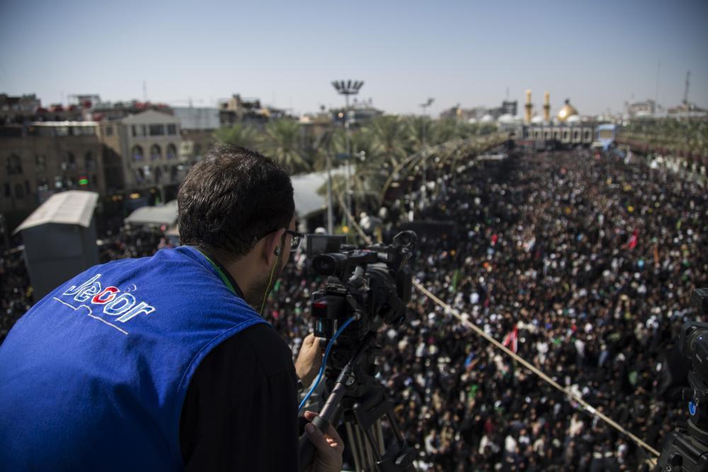 تصویر حضور ۲۴۰ رسانه عراقی و خارجی در پوشش خبری زیارت اربعین