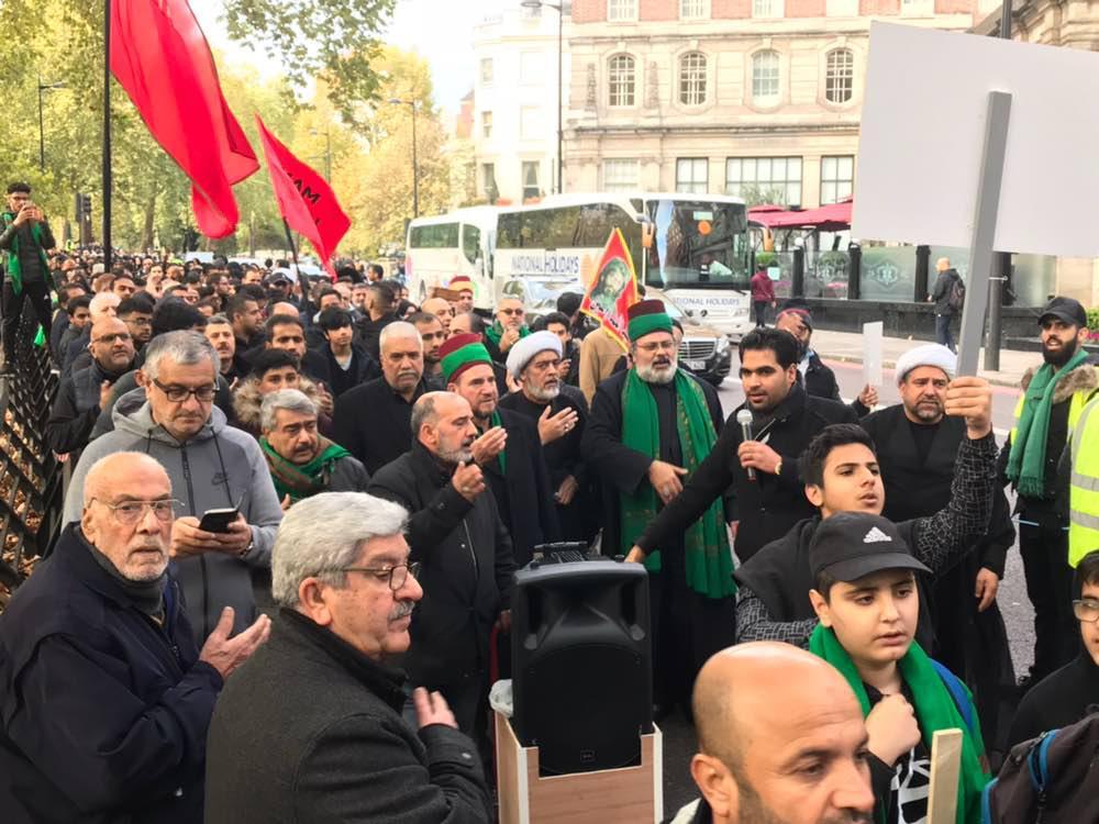 تصویر پیاده روی بزرگ اربعینی شیعیان انگلیس در پایتخت این کشور