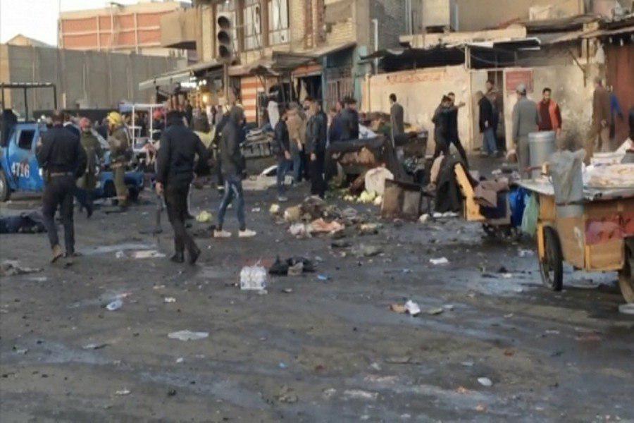 تصویر ۱۲ شهید و مجروح براثر وقوع انفجارهای تروریستی در بغداد