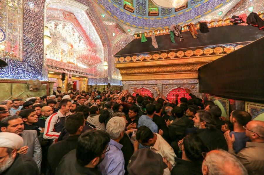 تصویر تمهیدات از پیش برنامه ریزی شده برای استقبال از عزاداران نبوی در نجف اشرف
