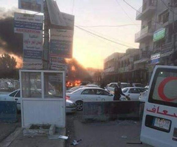 تصویر انفجار در تکریت عراق