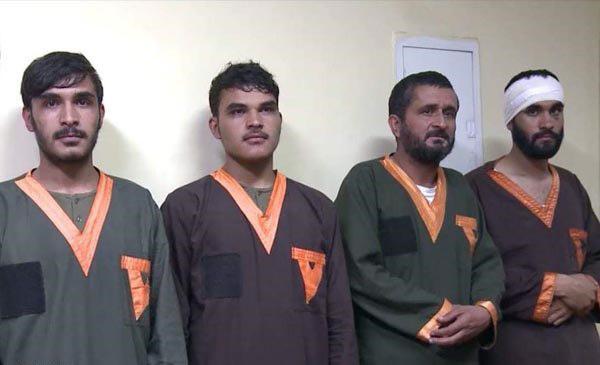 تصویر بازداشت 4 عضو داعش در شهر کابل