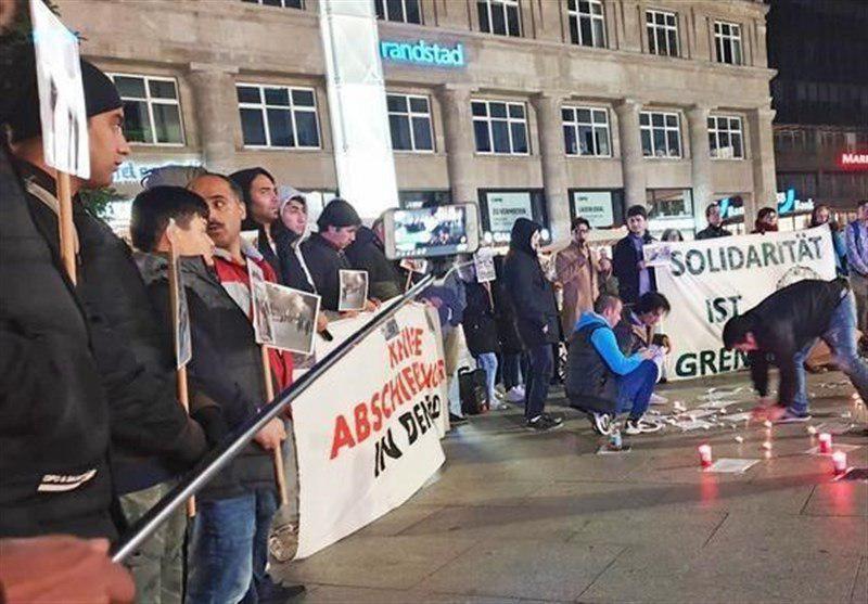 تصویر گردهمایی اعتراضی در آلمان علیه اخراج اجباری پناهجویان افغان