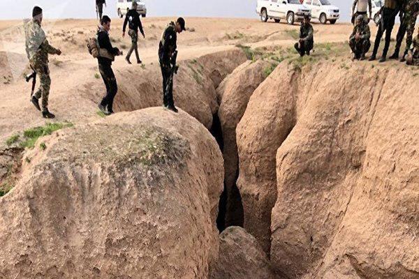 تصویر کشف ۲۰ مخفیگاه داعش در شمال عراق