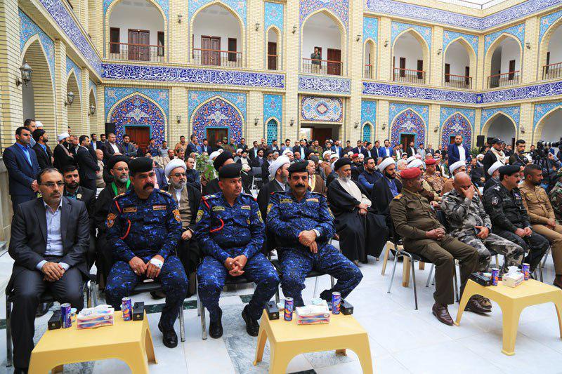تصویر افتتاح مدرسه علمیه جعفریه در سامرا پس از بازسازی