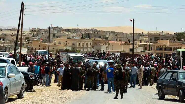 تصویر بازگشت ۲۸ هزار آواره سوری از اردن به کشورشان