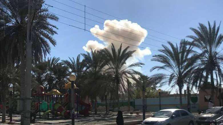 تصویر انفجار تروریستی در شهر چابهار در جنوب شرق ایران