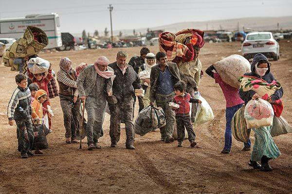 تصویر بازگشت هزاران پناهجوی سوری از اردن به کشورشان