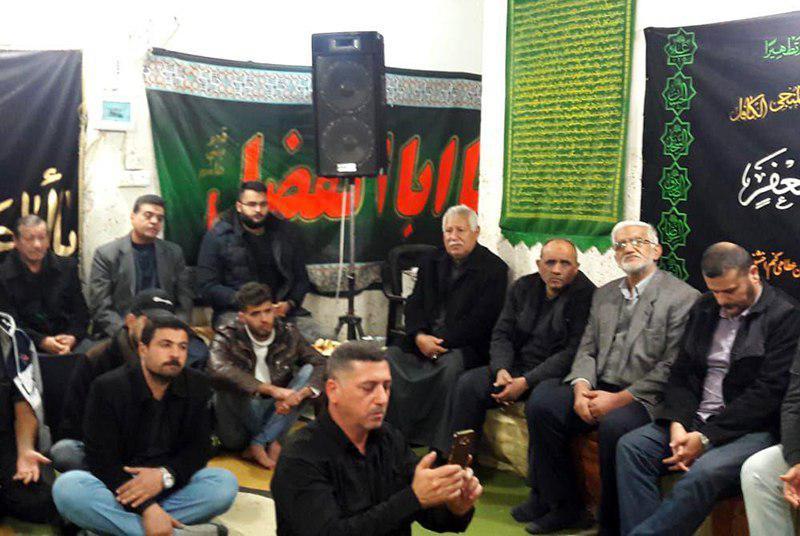 تصویر مجلس عزاداری ایام فاطمیه در شهر مقدس کاظمین