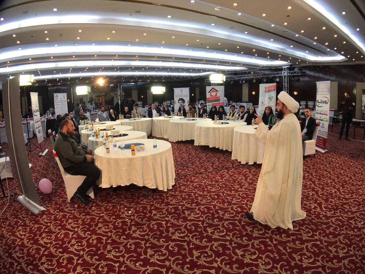 تصویر برگزاری جشن توزیع هدایای اولین دوره از «بزرگ ترین پروژه ازدواج جوانان»، در پایتخت عراق