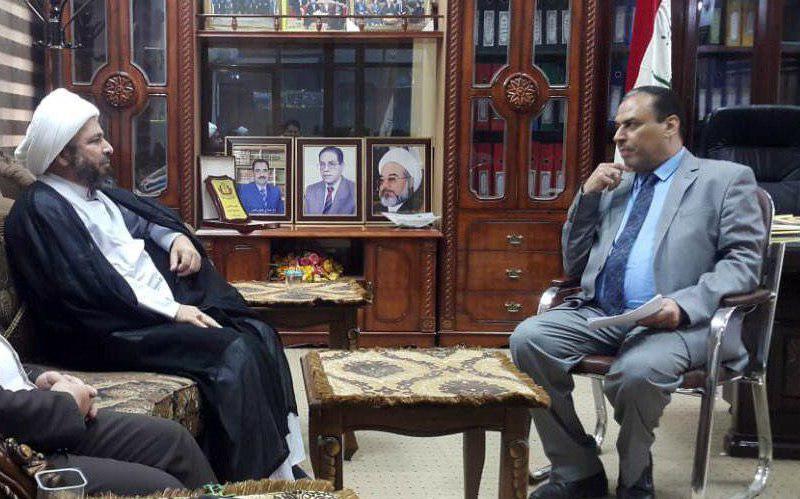 Photo of دیدار نماینده دفتر مرجعیت در نجف اشرف با رئیس دانشگاه فقه کوفه