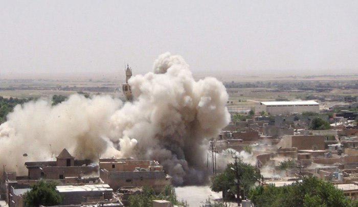 تصویر وقوع انفجار تروریستی در شهر شیعه نشین «تلعفر» عراق