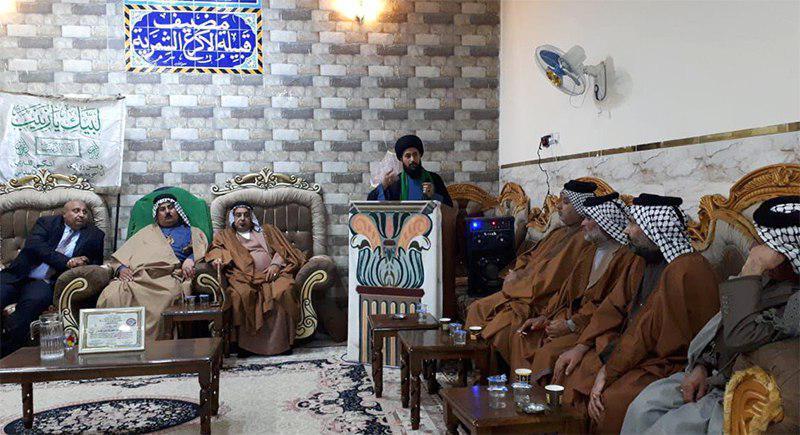 تصویر حضور مدیر مرکز فرهنگی اسلامی بغداد در سمینار مضیف عشایر منطقه الدوانم بغداد