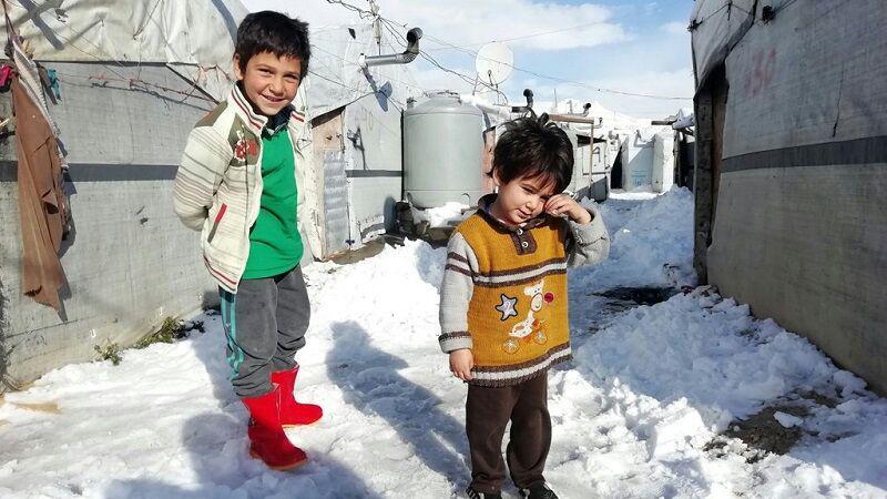 تصویر یونیسف: سرمای شدید جان ۱۵ کودک آواره سوری را گرفت