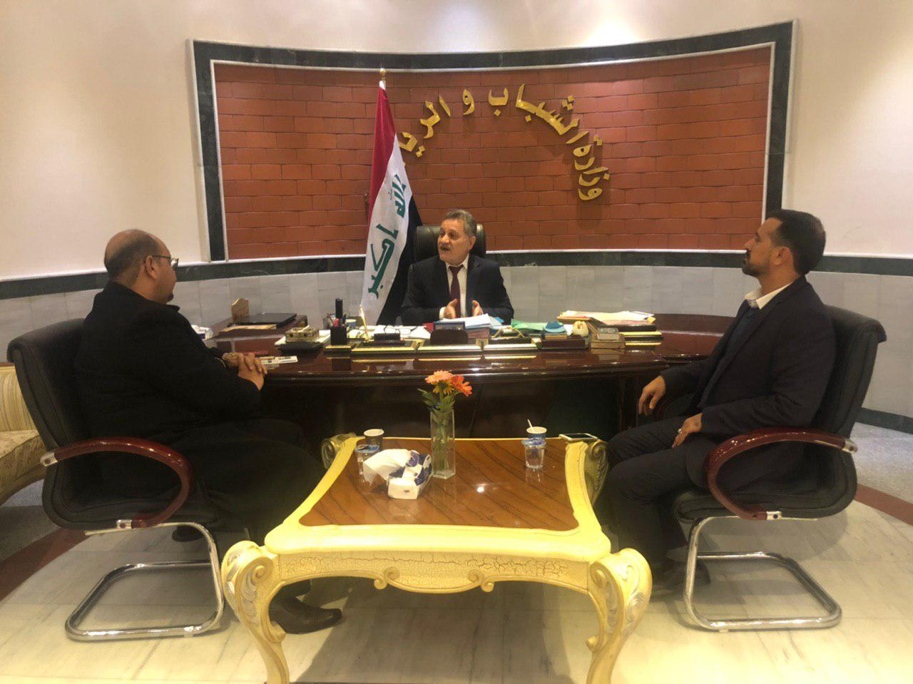 تصویر همکاری موسسه مصباح الحسین علیه السلام با وزارت جوانان و ورزش عراق