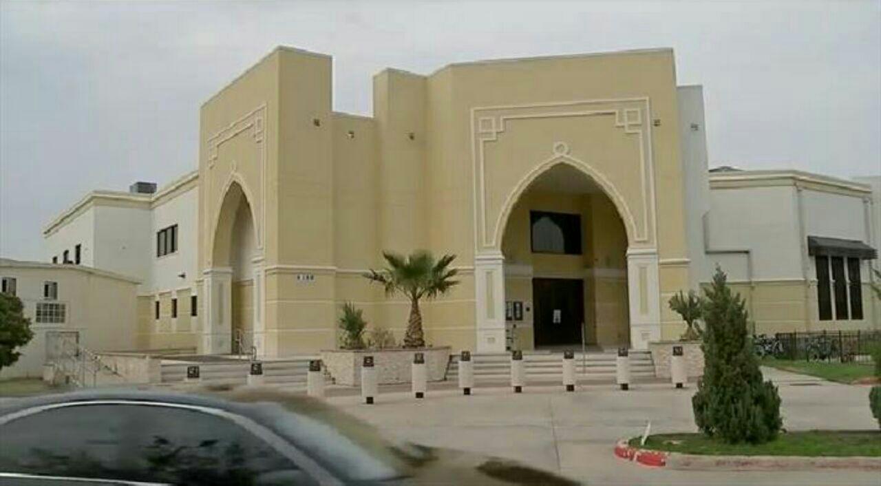 تصویر تیراندازی به مسجدی در تگزاس