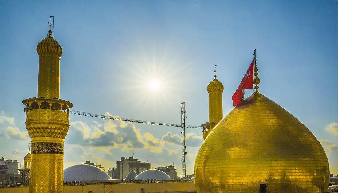 تصویر تکمیل گنبد جدید حرم حسینی تا ماه محرم