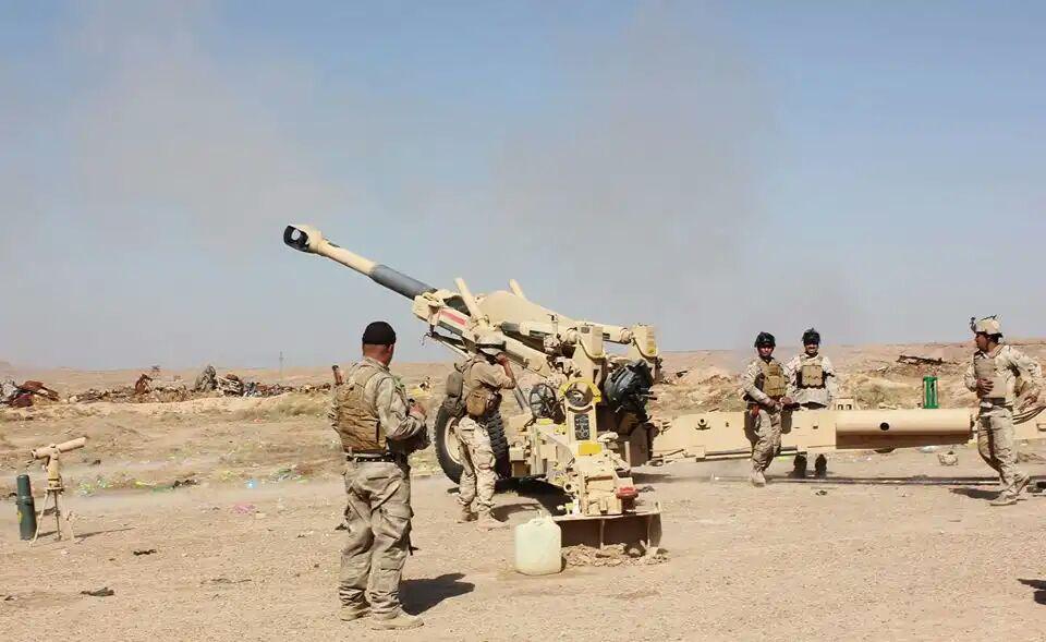 تصویر هلاکت و زخمی شدن ۳۵ داعشی در حملات نیروهای عراقی