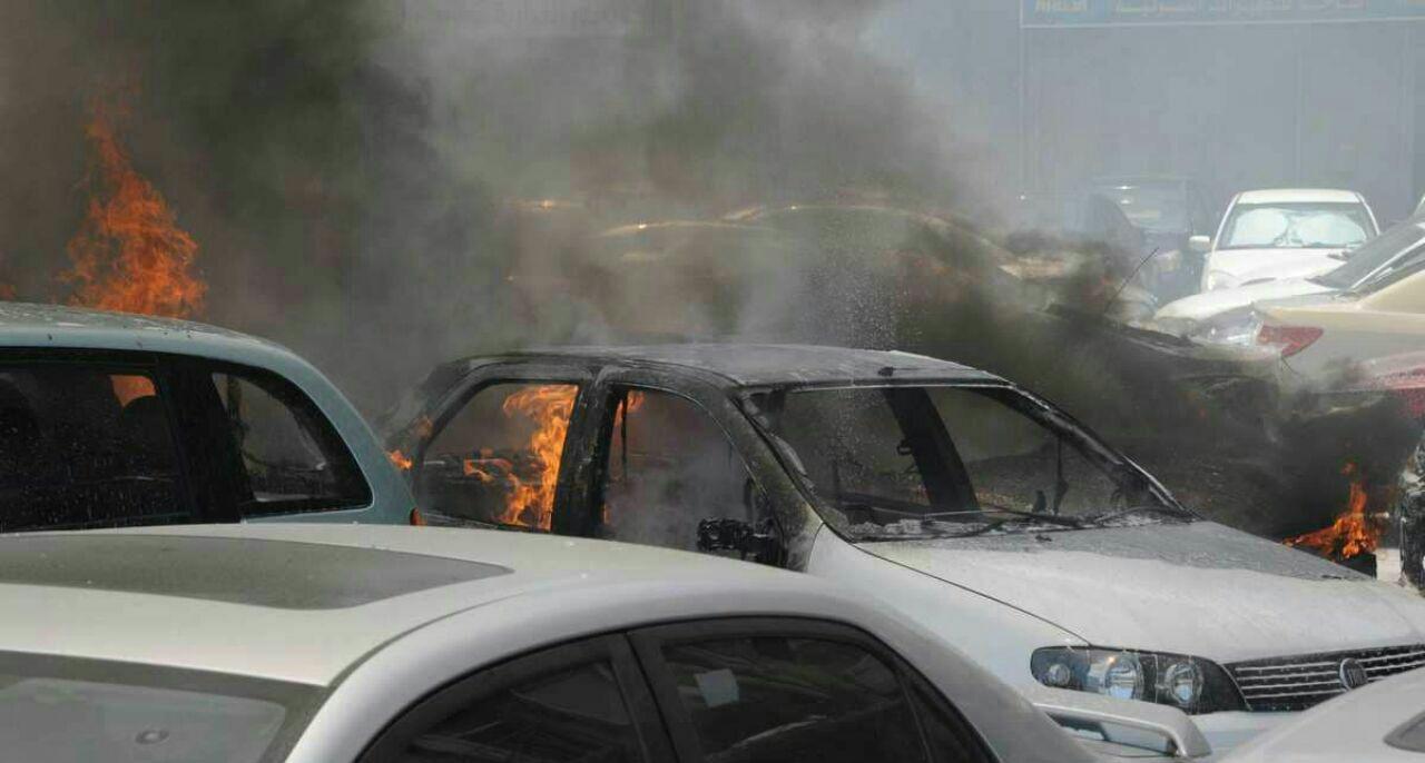 تصویر انفجار تروریستی در دمشق