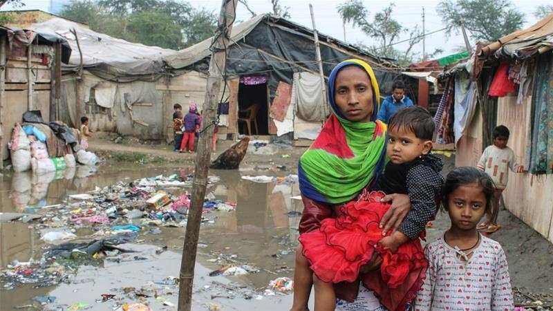تصویر تهدید به مرگ مسلمانان روهینگیا توسط هندوها