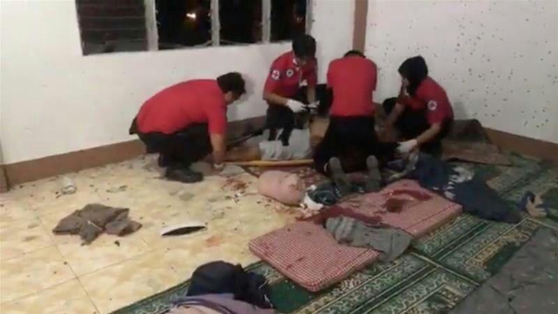 تصویر افراد مسلح با نارنجک به یک مسجد در جنوب فیلیپین حمله کردند