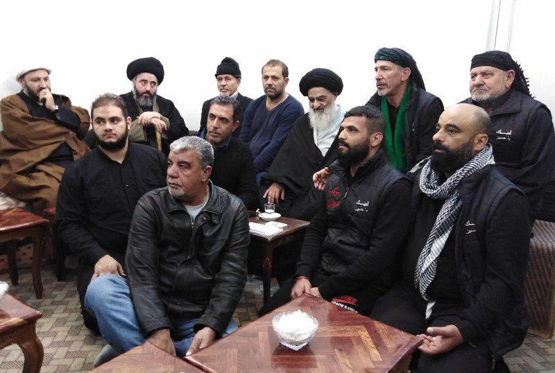 تصویر استقبال مجمع جهانی هیئات و مواکب حسینی از اعضای موکب های پیاده کشور عراق در شهر مقدس قم