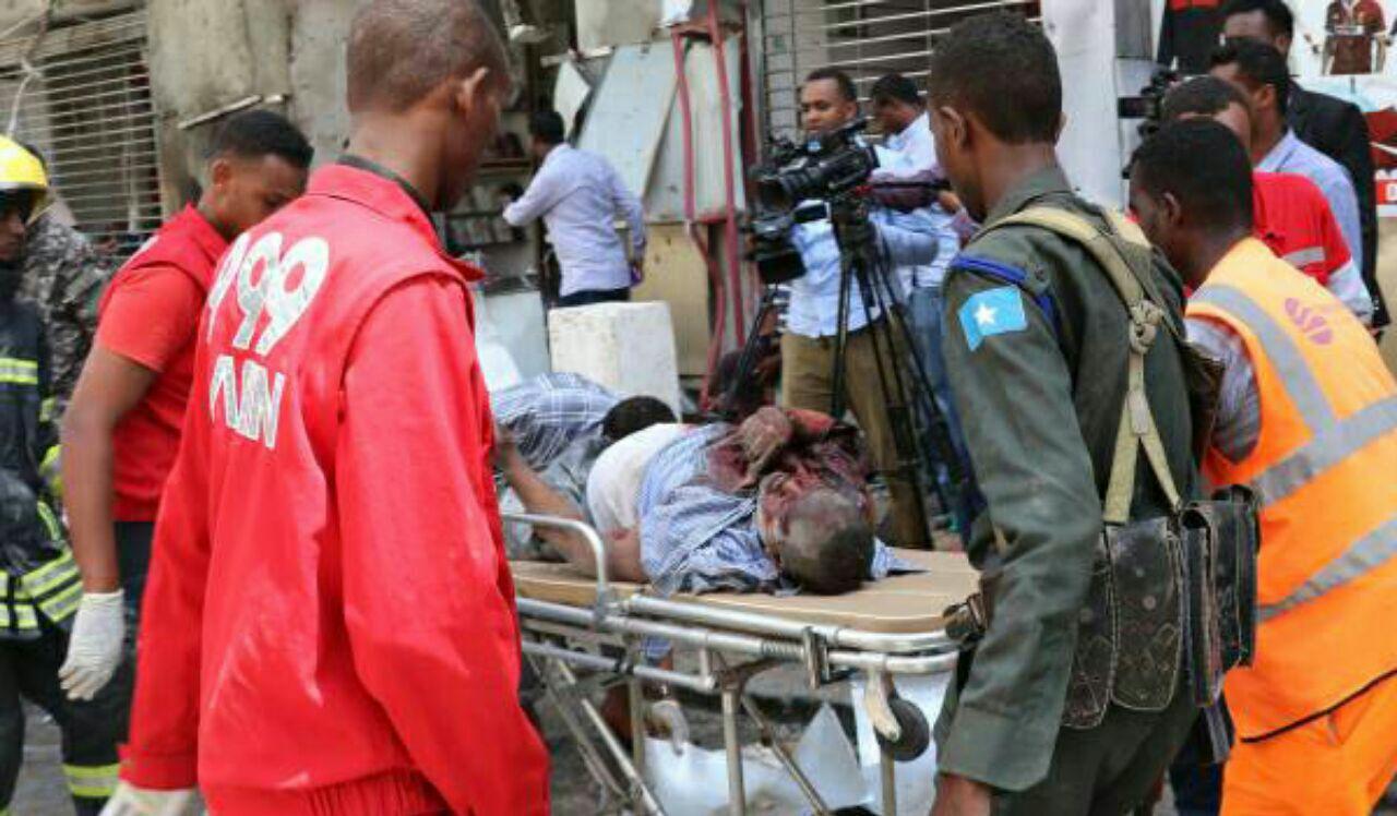 تصویر انفجار یک خودروی بمب گذاری شده، در سومالی