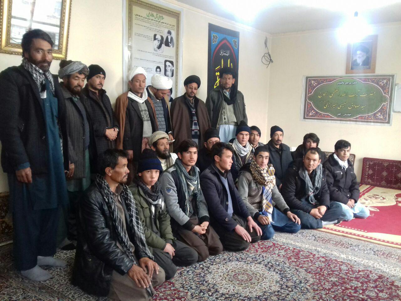 تصویر دیدار تعدادی از شخصیت های دینی و اجتماعی ولایت «بامیان» با نماینده مرجعیت شیعه، در کابل