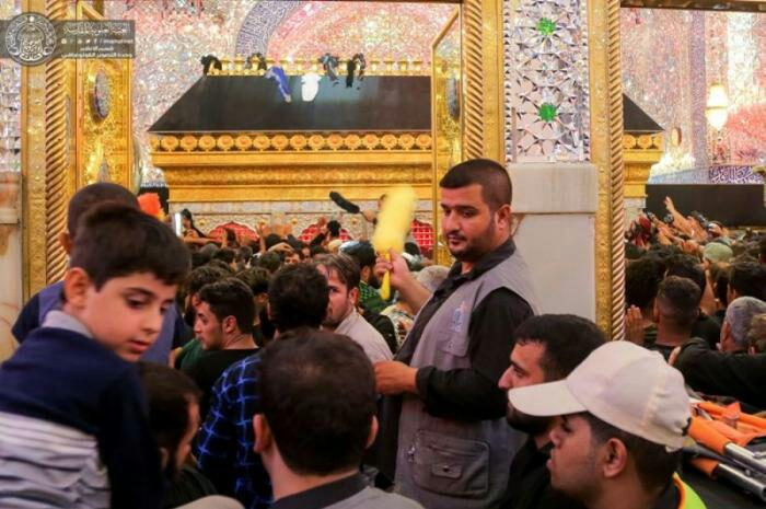 Photo of حضور هزار خادم داوطلب در آستان مقدس علوی