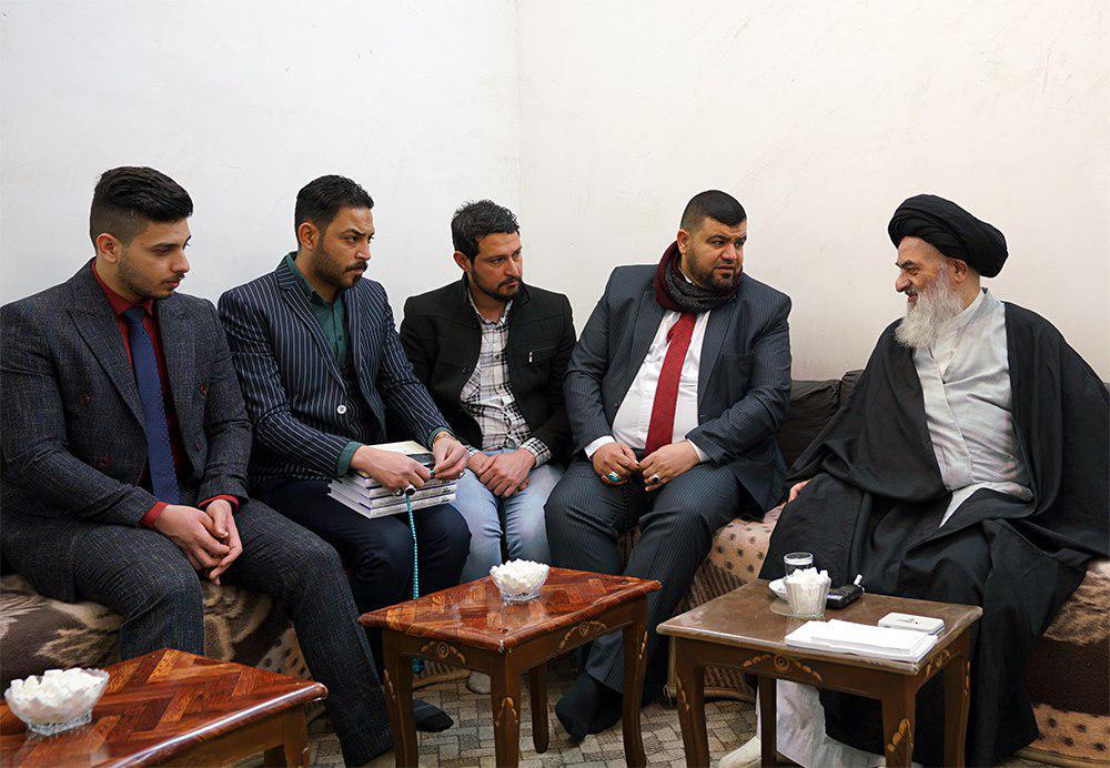 تصویر بزرگ مرجع جهان تشیع حضرت آیت الله العظمی شیرازی: مهم ترین مسأله امروز عراق، رهایی ملت از ستم است