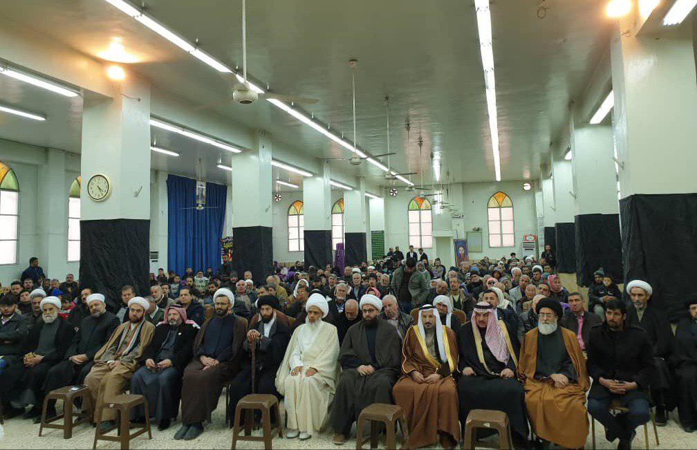 تصویر مراسم چهلمین سالروز شهادت آیت الله سید حسن شیرازی قدس سره در حوزه زینبیه شهر دمشق