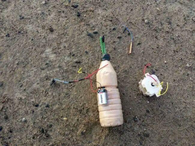 تصویر کشف چهار بمب شیمیایی دستساز داعش در موصل