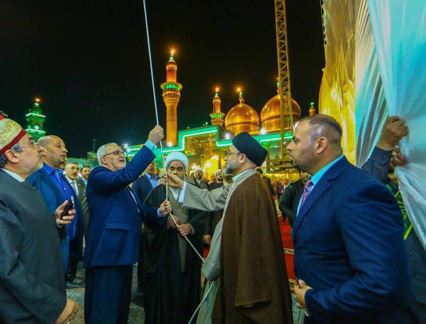 تصویر افتتاح دو صحن در حرم مطهر امامین جوادین علیهما السلام