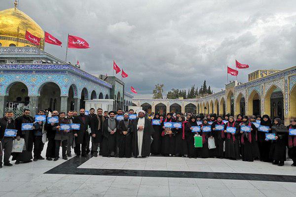 تصویر افتتاح دارالقرآن کریم در جوار حرم حضرت زینب سلام الله علیها