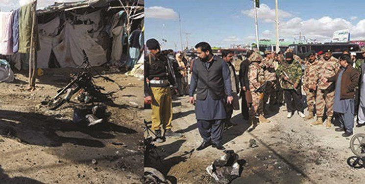 تصویر انفجار موتورسیکلت بمب گذاری شده در سیستان و بلوچستان پاکستان