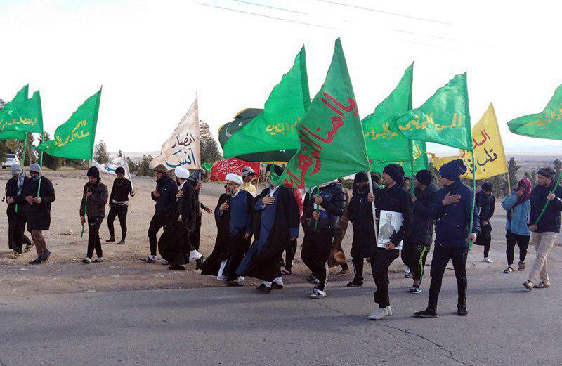Photo of استقبال مجمع جهانی هیئات و مواکب حسینی از کاروان های پیاده عراق در شهر مقدس قم