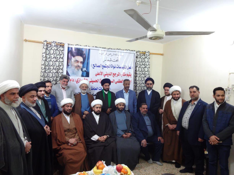 تصویر نشست مشترک موسسه های مرتبط با مرجعیت شیعه در کاظمین
